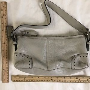 Coach Bags - Coach Mini Purse Grey Leather Tote